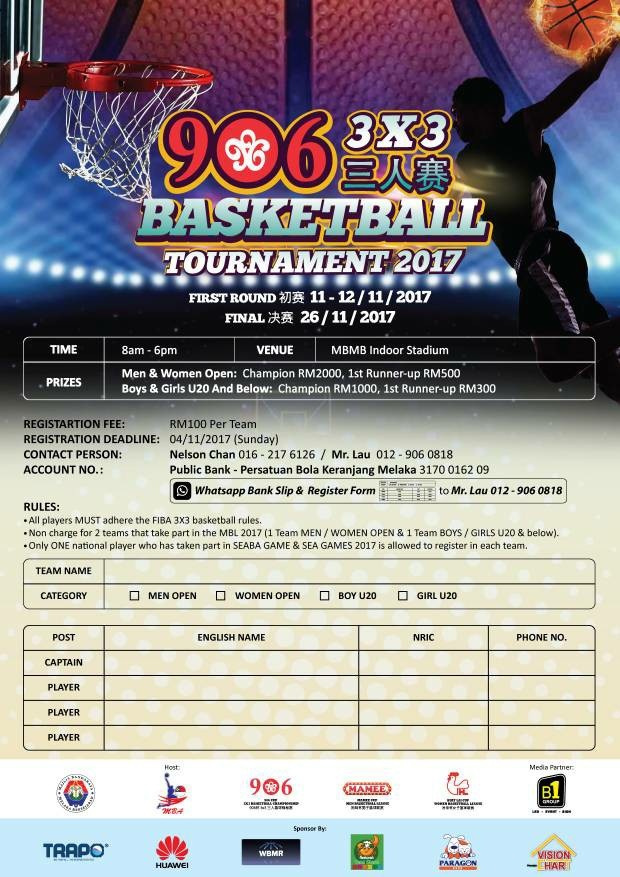 906 Cup 3x3 Basketball Tournament